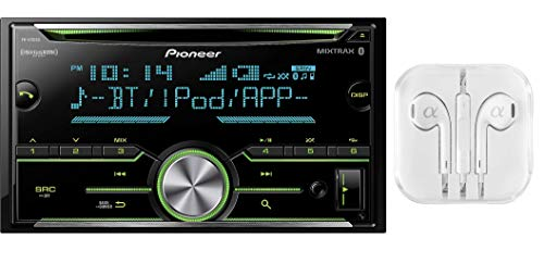 (Pioneer Double DIN In-Dash Built-in Bluetooth, CD AM/FM MP3, Front USB, Pandora, iHeartRadio and Spotify, SiriusXM Satellite Radio Ready Car Stereo Receiver / Free ALPHASONIK Earbuds)