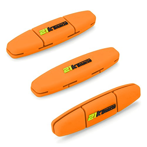 (Tennis Vibration Dampener- Set of 3-Tennis Shock Absorber For Strings- Best For Tennis Racket, Premium- Durable & Long-Lasting- Great For Tennis Players (Green) (Orange))