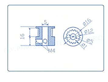 JSDL 2 x GT2 20-dientes 3D-impresora de correa + GT2-6 mm goma cinturón correa dentada banda de transmisión de goma (2 m): Amazon.es: Electrónica