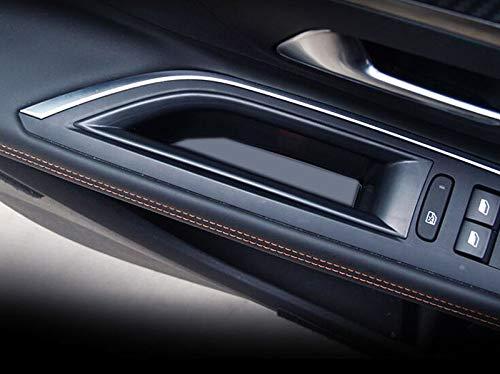 FidgetGear Interior Front Side Door Storage Box Holder 2pcs Peugeot 3008 GT 2016 2017