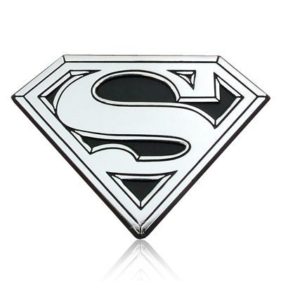 Superman Chrome Metal Car Emblem, Official Licensed