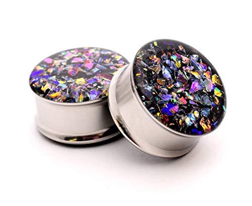 (nugroho_mys Embedded Dichroic Glass Plugs gauges (1