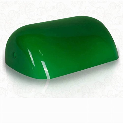 Newrays Replacement Green Glass Bankers Lamp Shade Cover for Desk Lamp ,L8.85 W5.3 (Replacement Lamp Shade Bankers)