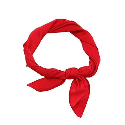 df64080b474bc Image Unavailable. Image not available for. Color: Demana Plain Color Neck  Square Scarf Neckerchief Elegant Bandana for Head Women´s Fashion Soft