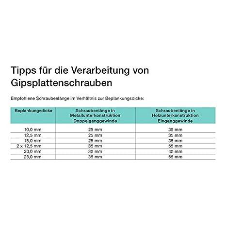 ACP Schnellbauschrauben Grobgewinde 3,9 x 55 mm 1000 St/ück PH 2 Gipsplattenschraube Einganggewinde phosphatiert