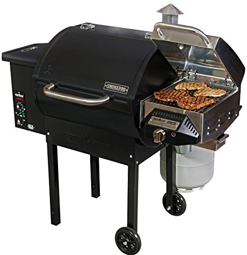Camp Chef SmokePro DLX Pellet Grill (Black) with Sear Box (PG24-PGSEAR)