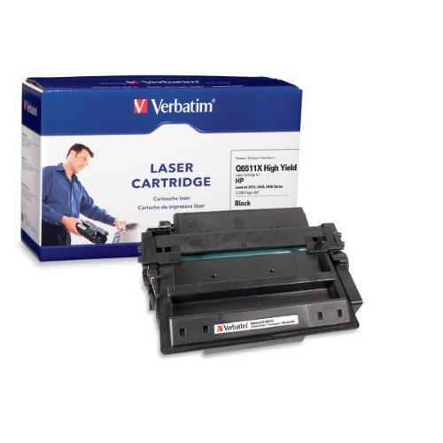 Verbatim HP Q6511X HP LaserJet 2410, 2420, 2430 Replacement High Yield Cartridge (95392) Black, Office Central