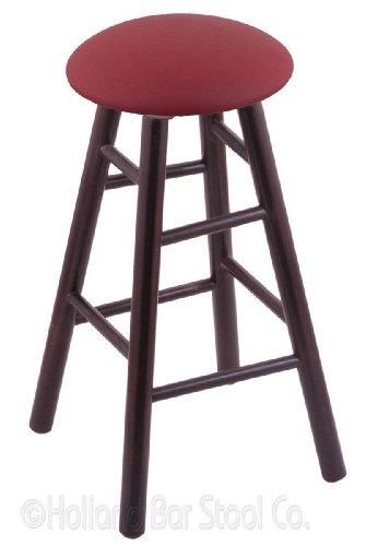 Maple Bar Stool in Dark Cherry Finish with Allante Wine - Pub Wood Bar Maple Finish