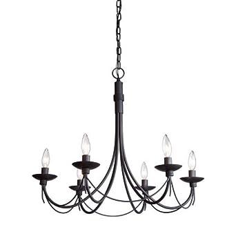 artcraft lighting wrought iron chandelier 25inch x 23inch ebony