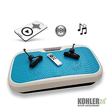 Plataforma vibratoria con conexión Bluetooth; incluye mando a ...