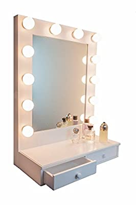 ASOKO ?New Version? Hollywood Vanity Mirror Lights Kit -LED Vanity Lights with Dimmable Light Bulbs, Lighting Fixture Strip for Makeup Vanity Table Set in Dressing Room (Mirror Not Included)