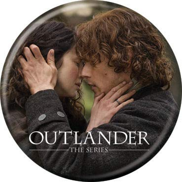 Caitriona Balfe and Sam Heughan 1 inch ROUND Licensed Button