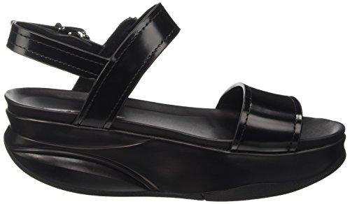 Nero Mujer Negro Negro Sandalias Vertical Tira con para EU Asha 6 MBT 40 0Wwq7an