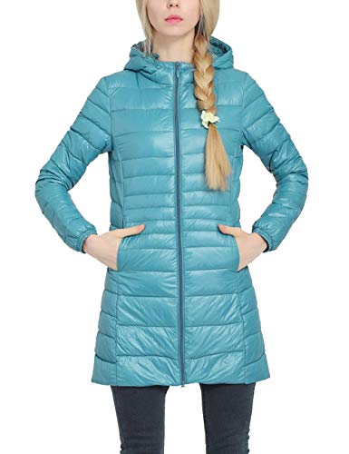 Besbomig Cappotto Dimensioni Sportiva Blu Inverno Tratto Di Incappucciato Del Slim Cappotto Cotone Lungo Grandi Giacche Di Tuta Leggero rwprWRq1f