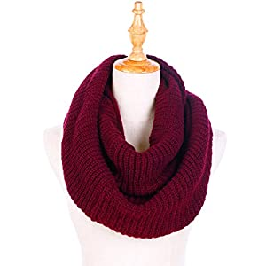 Dimore Womens Winter Ribbed Knit Infinity Circle Loop Scarf Thick Ribbed