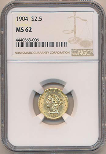 (1904 P $2.50, Gold (Pre-1933) MS62 NGC)
