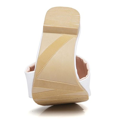 xy Color Zapatos De Blanco Tamaño EU42 Moda UK8 De Libre Mujer Blanco Verano Aire CN43 Zapatillas De Al 5 Sandalias qArPRq7z