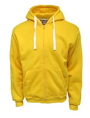 Henry & William Men's Basic Fleece Zip UP Hoody 3X Gold