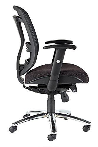 SedLivo Premium Nylon Mid-Back Mesh Multifunction Chair with Cushion Seat, Black