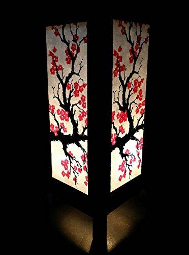 Fine Art Lamps Crystal Table Lamp (Asian Oriental Japanese Sakura Cherry Blossom Art Bedside Table Lamp)
