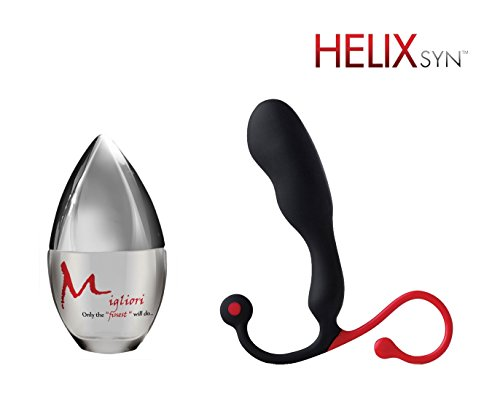 Aneros Helix SYN paired with Migliori premium silicone-based lubricant (30 ml) by Aneros, Migliori