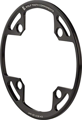 Wolf Tooth Components Bash Guard: for 104 BCD Cranks, fits 32T - 34T Chainrings