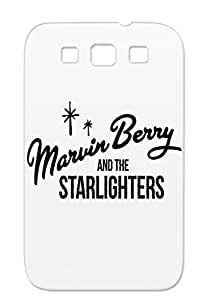 R B Back To The Future Marty McFly Music Marvin Berry Starlighters Black For Sumsang Galaxy S3 Marvin Berry And Starlighters Case Cover
