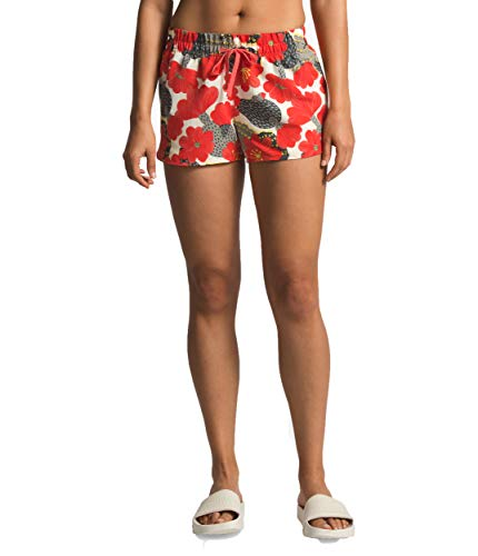 The North Face Women's Class V Mini Short, Spiced Coral Barrel Floral Print, Size M