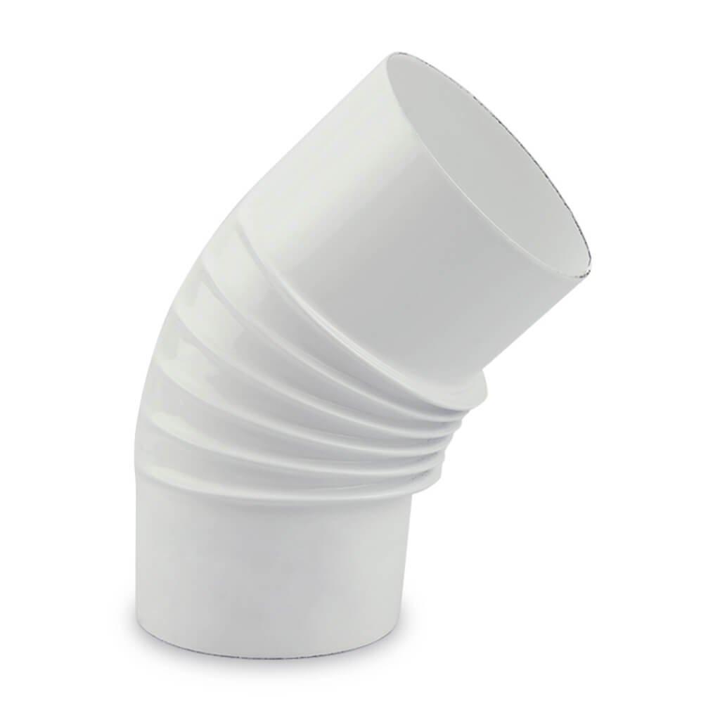 Muldenthaler Emaille (D) Ofenrohr, Bogen, gerippt, 45°, emailliert, ø 100 mm Weiß