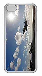 iPhone 5C Case, Personalized Custom War Airplane 60 for iPhone 5C PC Clear Case