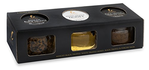 - Truffle Selection Box (Minced Black Truffle, White Truffle Honey & Truffle Salsa Sauce) by TruffleHunter - In a Presentation Gift Box Set - Vegetarian, Kosher and Gluten Free - Gourmet Food Condiments