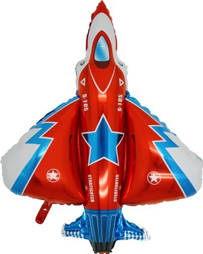 Grabo 36 Inch Starfighter Rocket/jet Shaped Foil Balloon (cs85) -
