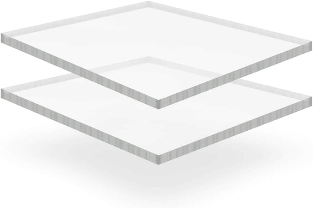 vidaXL 5x Feuille Verre Acrylique Transparent 60x80 cm 5 mm Perspex Plexiglas