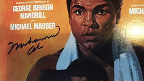 Icons of boxing Muhammad Ali Autographed Rare Record Album Cover Hand Signed in Blue Ink with Photo Proof