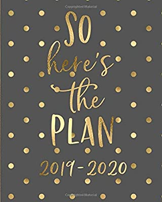 So Heres the Plan 2019-2020: 18 Month Academic Planner ...