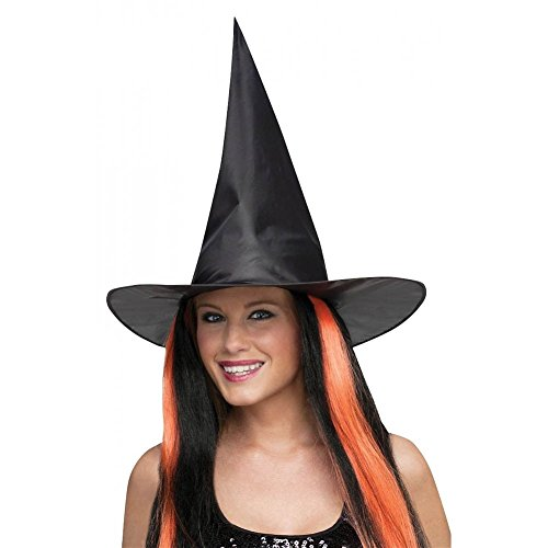 Black Taffeta Witch Hat Costume Accessory