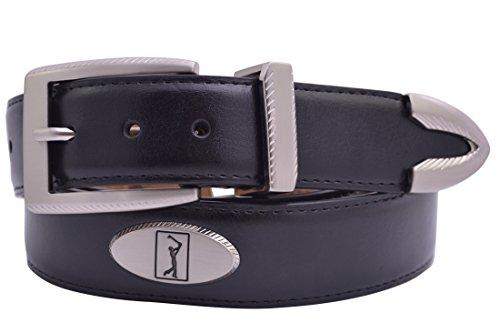- PGA TOUR Leather Concho Golf Belt - Black