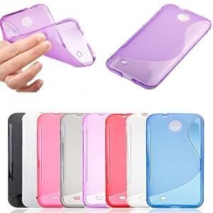 S-line Silicone Protective Case For HTC Desire 300 Smart Phone --- Color:Black