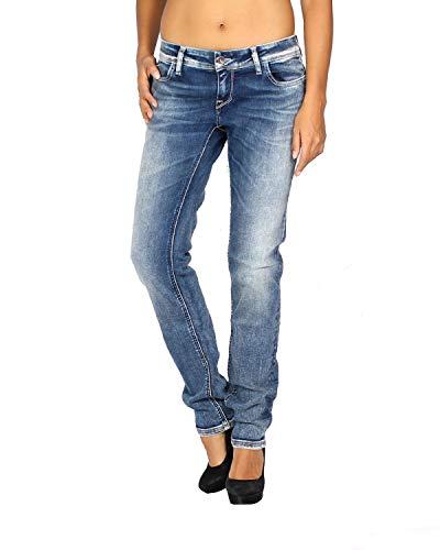 MELTIN'POT - Women's Jeans Monie - Skinny Push-up - Blue, W31 / L32