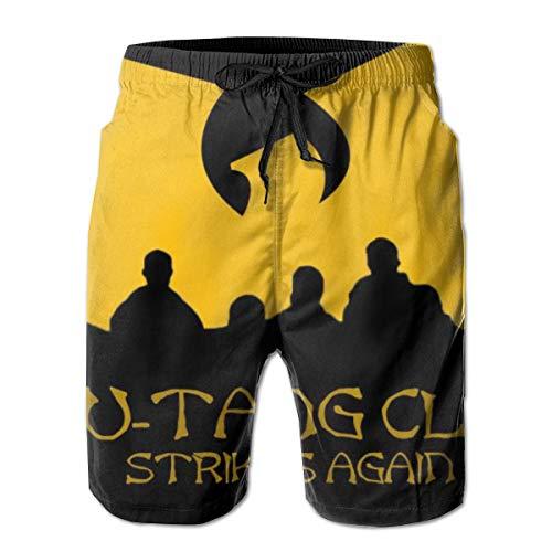 Men's WU-Tang-Clan-Strikes Again Cargo Short Swimwear for Beach Gym Hiking - Extreme Comfort Quick Dry Loose Drawstring Board Shorts Big & Tall ()