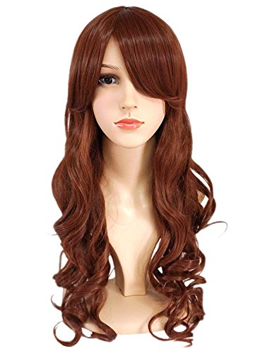 Another Me Wig Women's Long Big Wavy Hair 25 Inches Chestnut Brown Ultra Soft Heat Resistant Fiber Party Cosplay Accessories