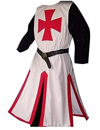 Taoliyuan Mens Medieval Crusader Costume Templar Knight