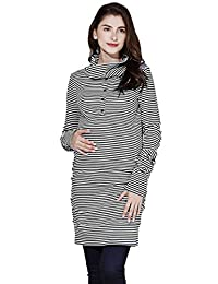 Sweet Mommy Maternity and Nursing Turtle Neck Tunic Dress
