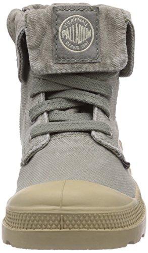 courtes Grau doublées Zipper mixte Concrete non Baggy Desert Putty enfant Palladium Bottes Gris 092 45BqIwv5