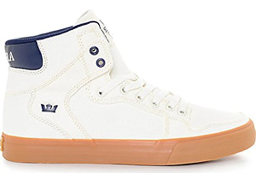 Supra Vaider Shoes - Off White / Blue Nights Gum-UK 11