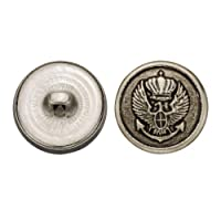 C&C Metal Products 5321 Eagle Anchor Metal Button, Size 33 Ligne, Antique Nickel, 36-Pack