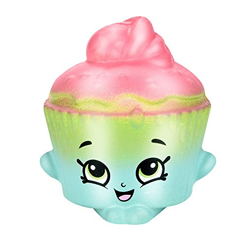 Mikilon Cupcake Squishy Toys Rainbow Colored Squishies Toy for Kids Party Decoration (Pink Green)]()