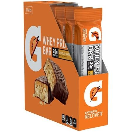 Gatorade Whey Protein Bar Chocolate Caramel 6 Pack Review