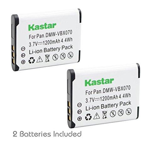Kastar VBX070 Battery 2 Pack for Pentax D-Li88 Panasonic VW-VBX070 Sanyo DB-L80 DB-L80AU & Pentax Optio H90 P70 P80 W90 WS80 Panasonic HX-DC1 DC2 DC10 DC15 WA10 HM-TA2 TA20 Camera