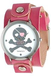 Nemesis Women's P821PVGB Elegant Heart Skull Love Watch